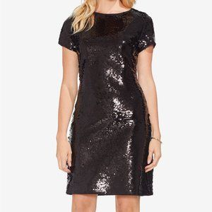 Vince Camuto NWT Fish-Scale Black Sequined Dress
